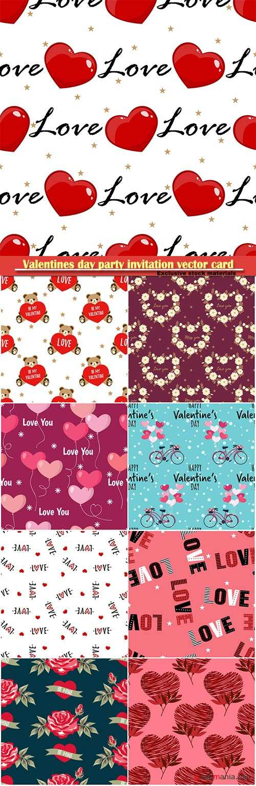 Valentines day seamless vector pattern