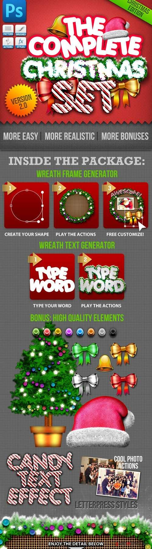 Christmas Generator Set: Actions and Text Styles - 802625