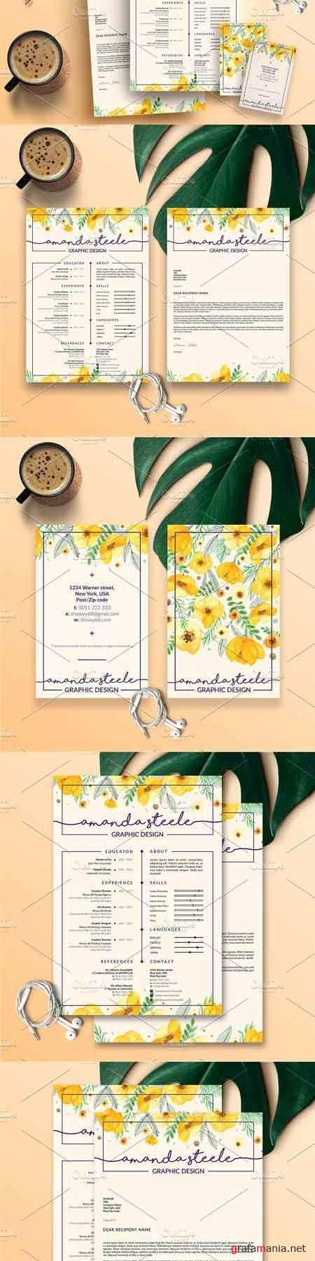 Pack Resume and Card Template N 3337121