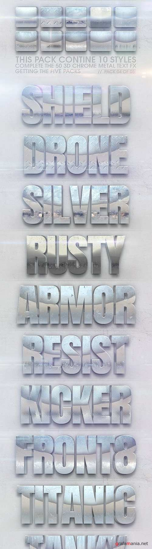 3D Chrome Metal Text FX 04 of 05 23113871