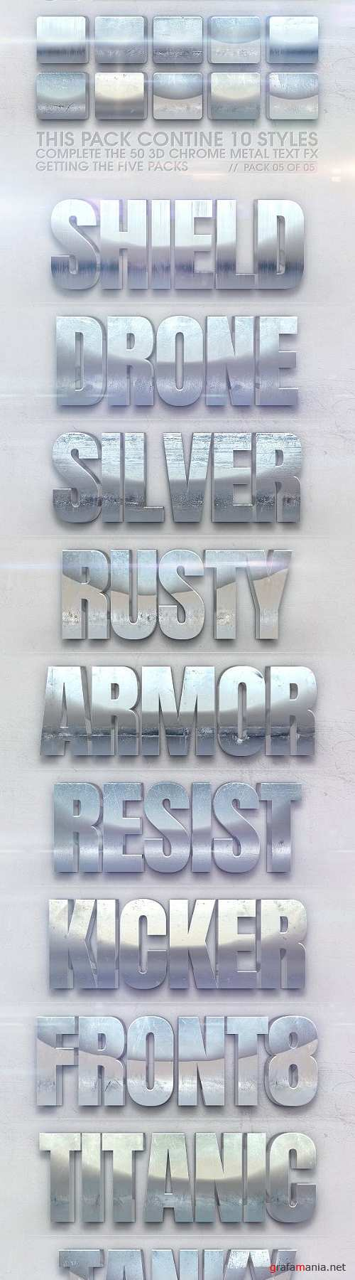 3D Chrome Metal Text FX 05 of 05 23113879