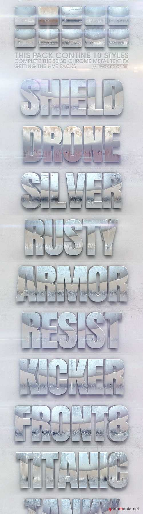 3D Chrome Metal Text FX 02 of 05 23112023