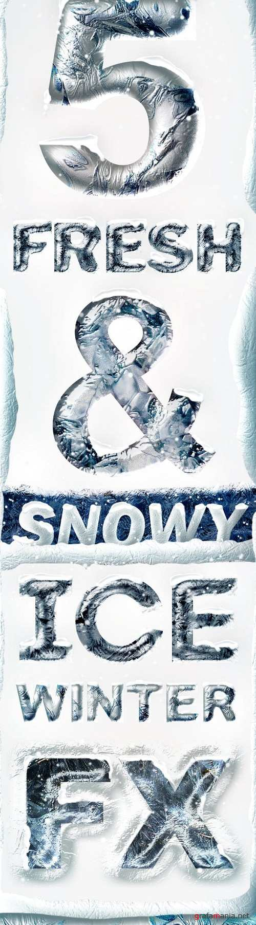 Ice Chrome Photoshop Layer Styles - Frozen Metal Text Effect 18759353
