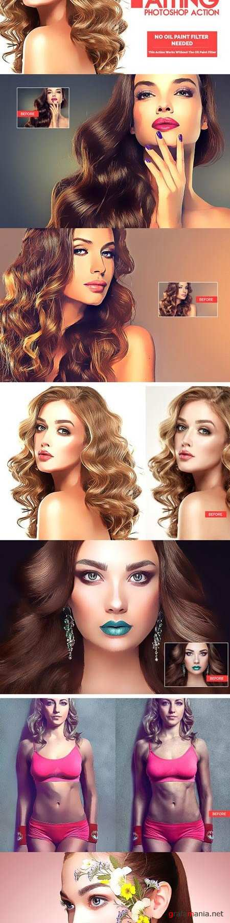 Portrait Painting Photoshop Action 3194274