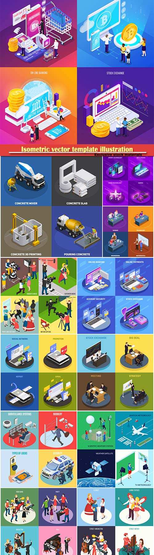 Isometric vector template illustration # 3