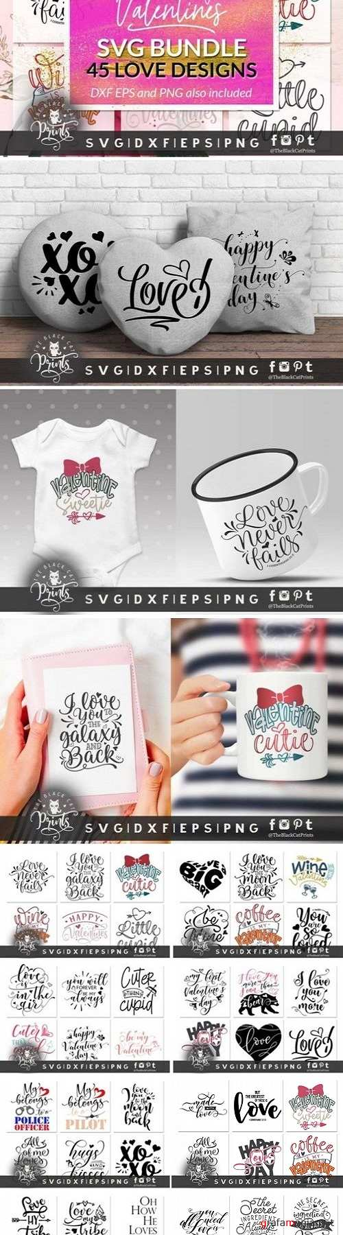 Valentines bundle SVG DXF EPS PNG 3360833 - 3521746