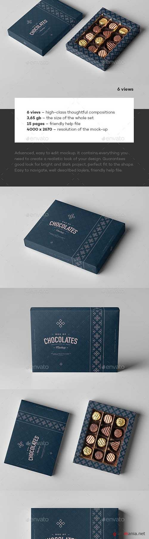 Box Of Chocolates Mock-up 23126932