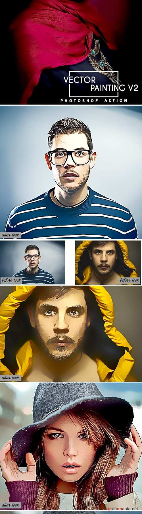 Vector Painting V2 Photoshop Action 23098826