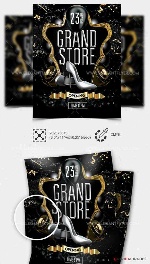 Grand Store Opening V1 2019 PSD Flyer Template