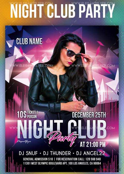Club Party V1 2019 Animated Flyer