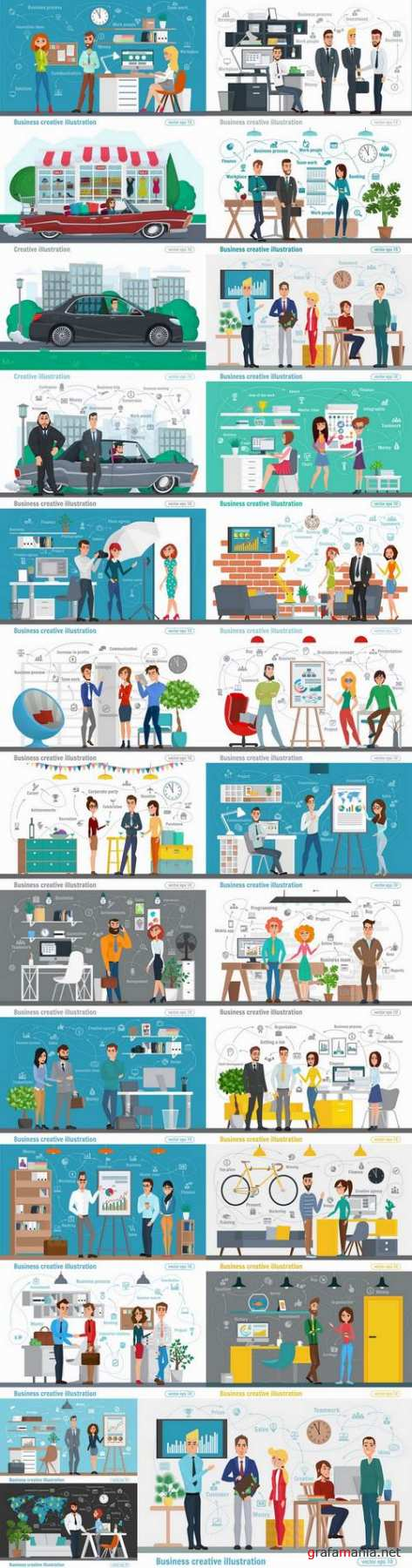 Business infographics work life sphere of activity a vector image 25 EPS