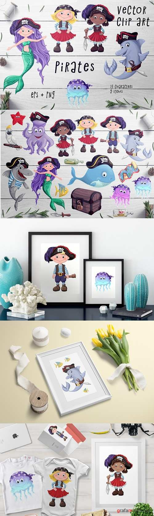 Pirates Set – Vector Clip art - 2379145