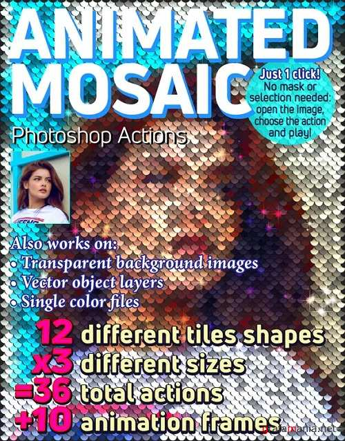 Animated Mosaic Photoshop Actions 23105461
