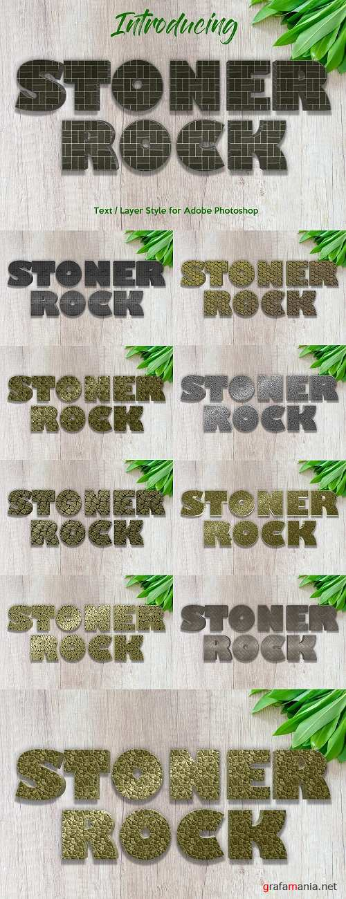 10 Stone Rock Layer Style - 3439268