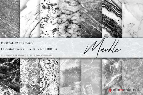 Marble Background Digital Paper - 2937111