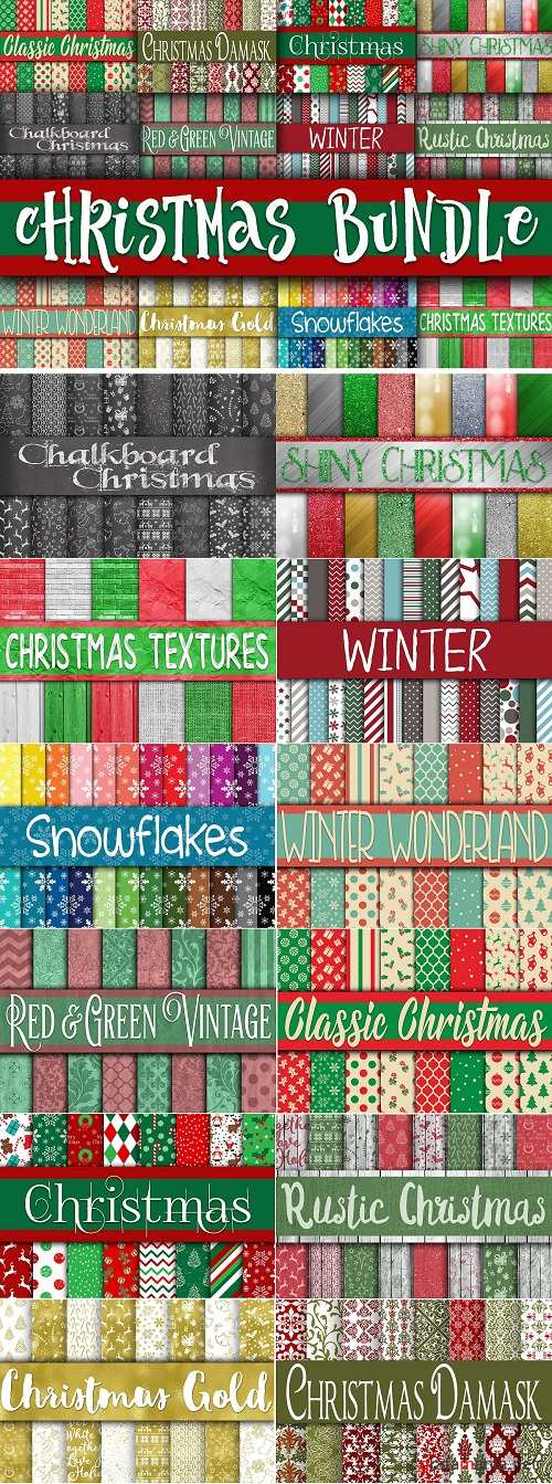 Christmas Digital Paper Bundle - 2827412