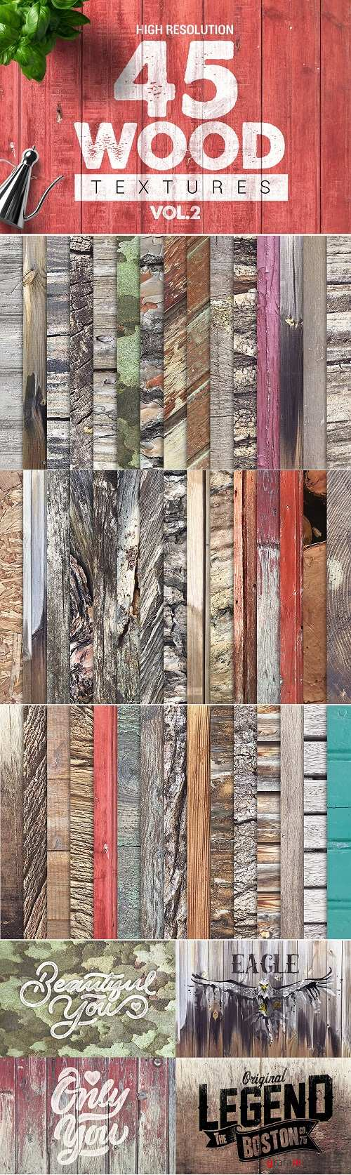 Bundle Wood Textures Vol2 x45 - 2811659