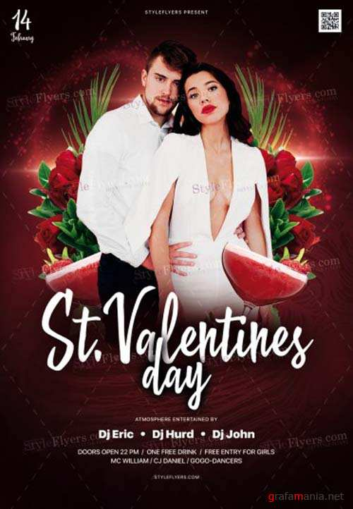 St. Valentine's Day V7 2019 PSD Flyer Template
