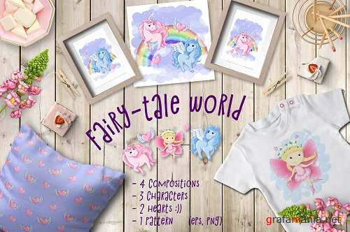 Fairy-tale world patterns, cards and items - 1973130