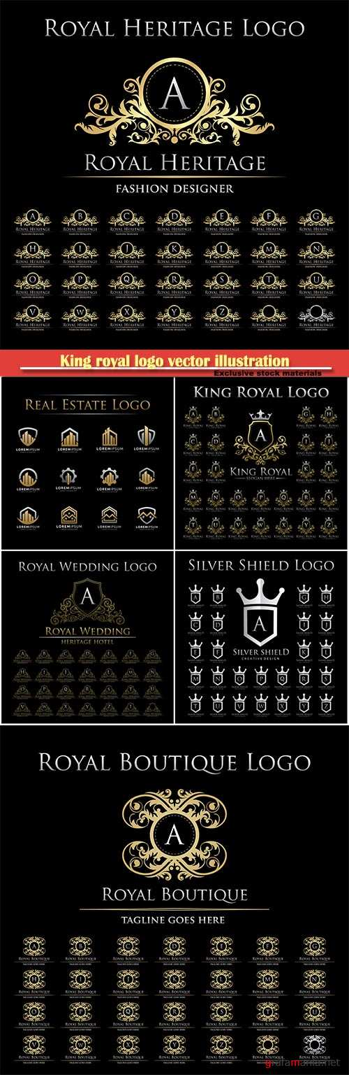 King royal logo vector illustration