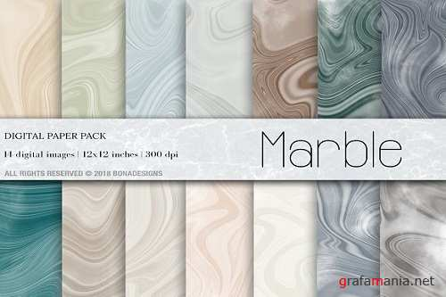 Abstract Marble Digital Paper - 3215621