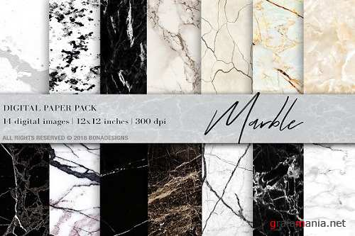 Marble Background Digital Paper - 2298707
