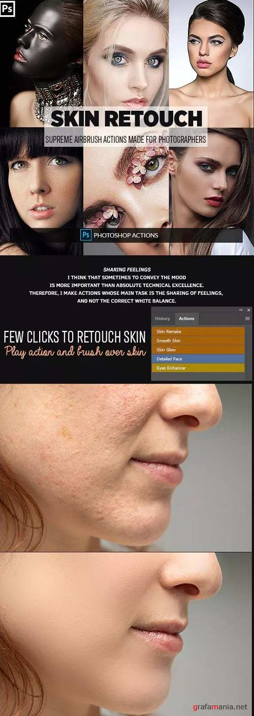 Easy Skin Retouch Photoshop Actions 23160423