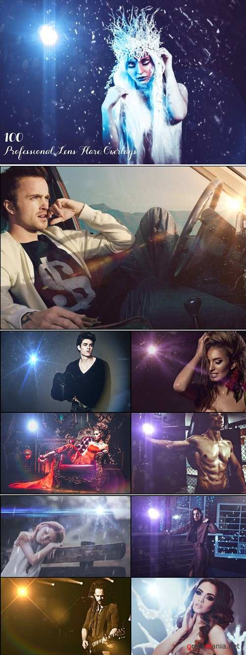 100 Professional Lens Flare Overlays - 3196507