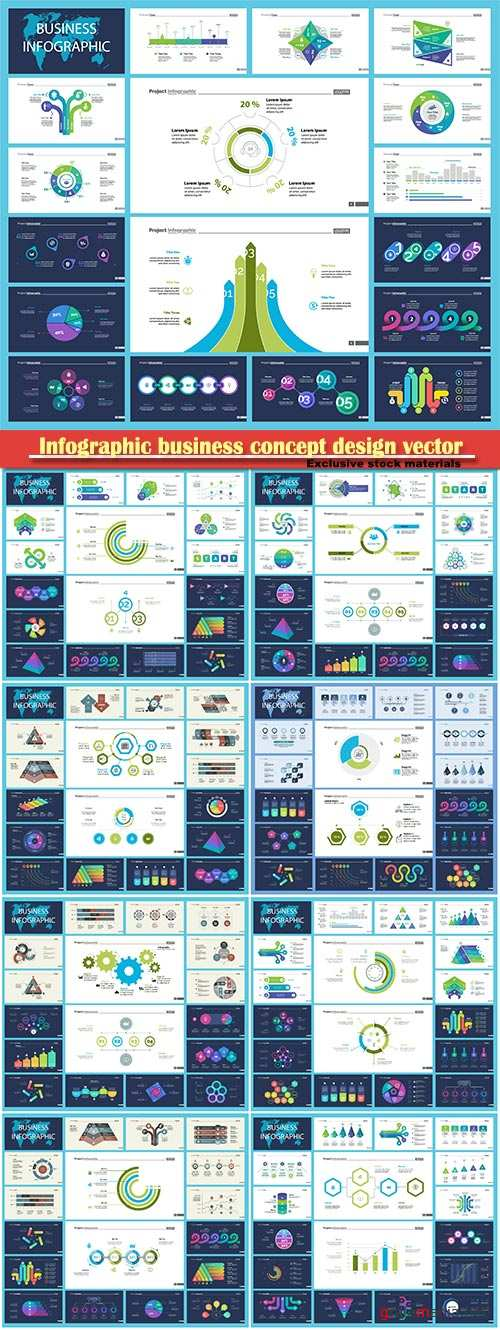 Infographic business concept design vector illustration # 8