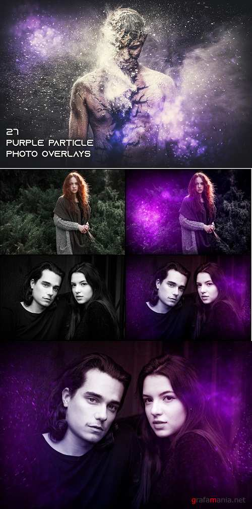 27 Purple Particle Photo Overlays 3498766