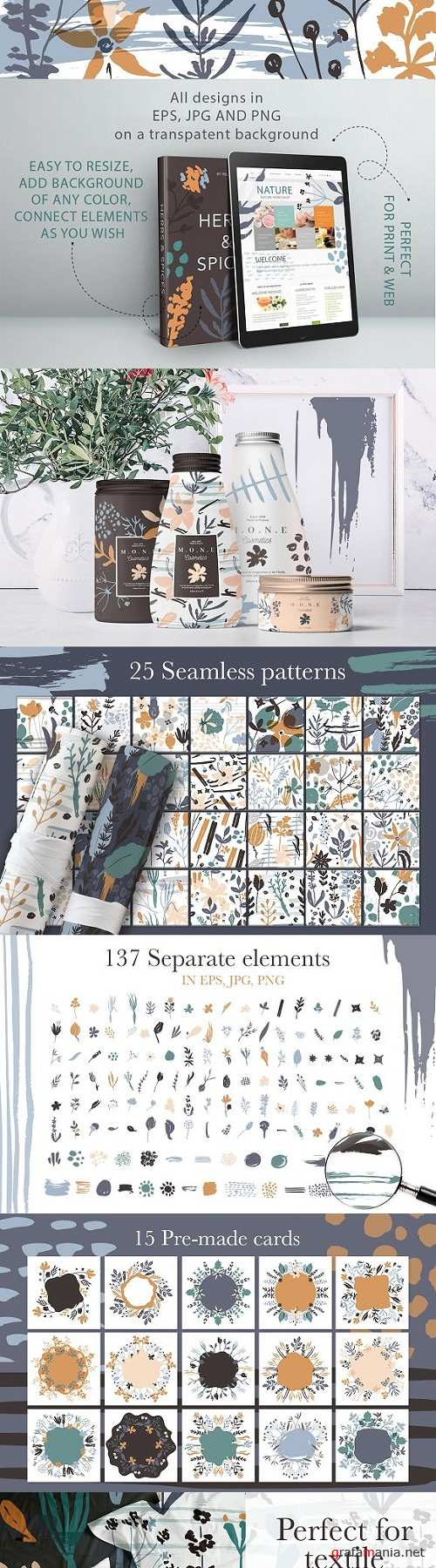 Herbs & Spices. Big graphic set - 3134863