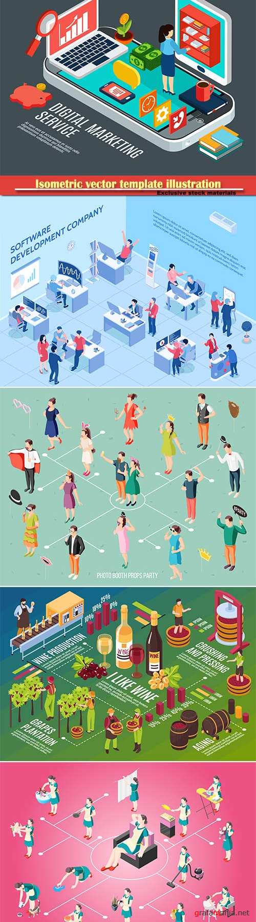 Isometric vector template illustration # 28