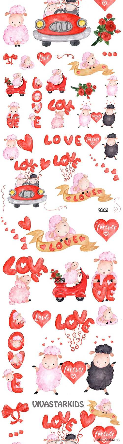 Love clipart Cute Sheeps clipart - 2183585