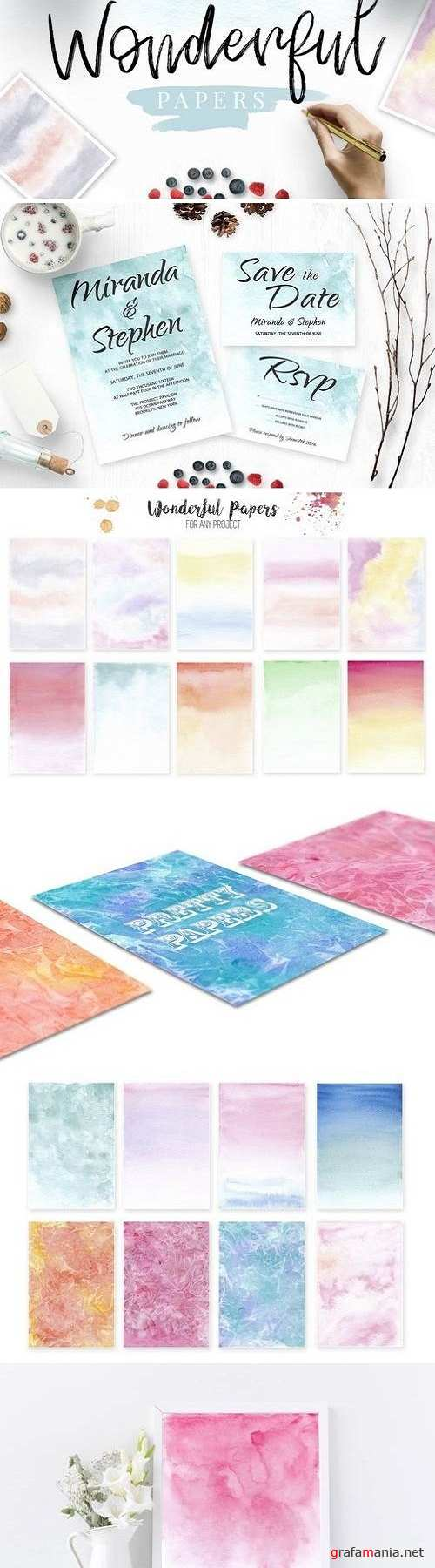 Watercolor Wonderful Papers