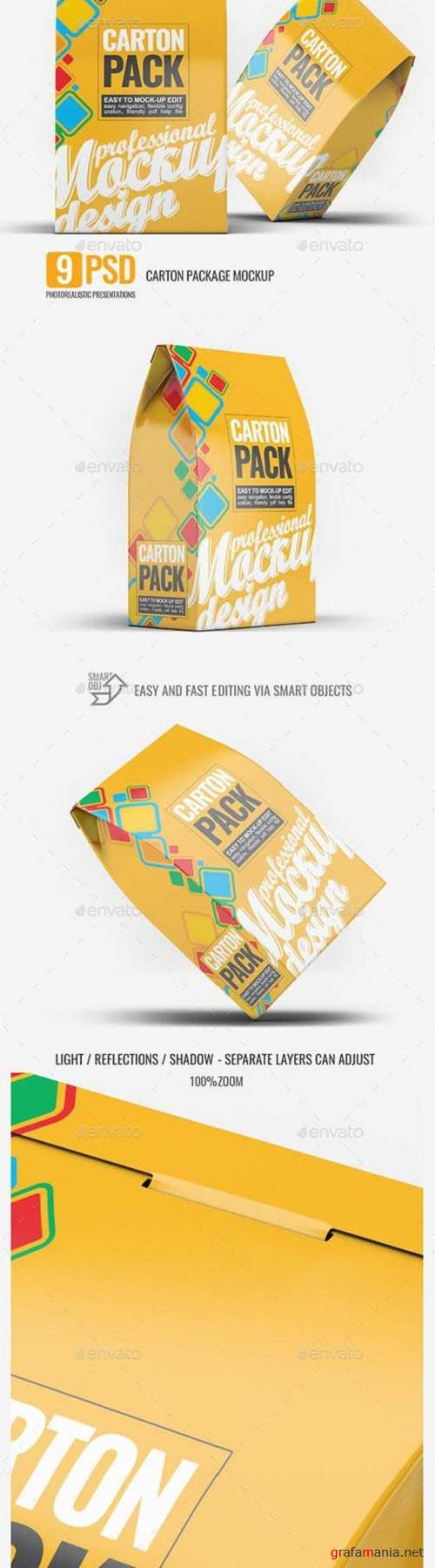 Carton Box Pack Mock-Up 23224959