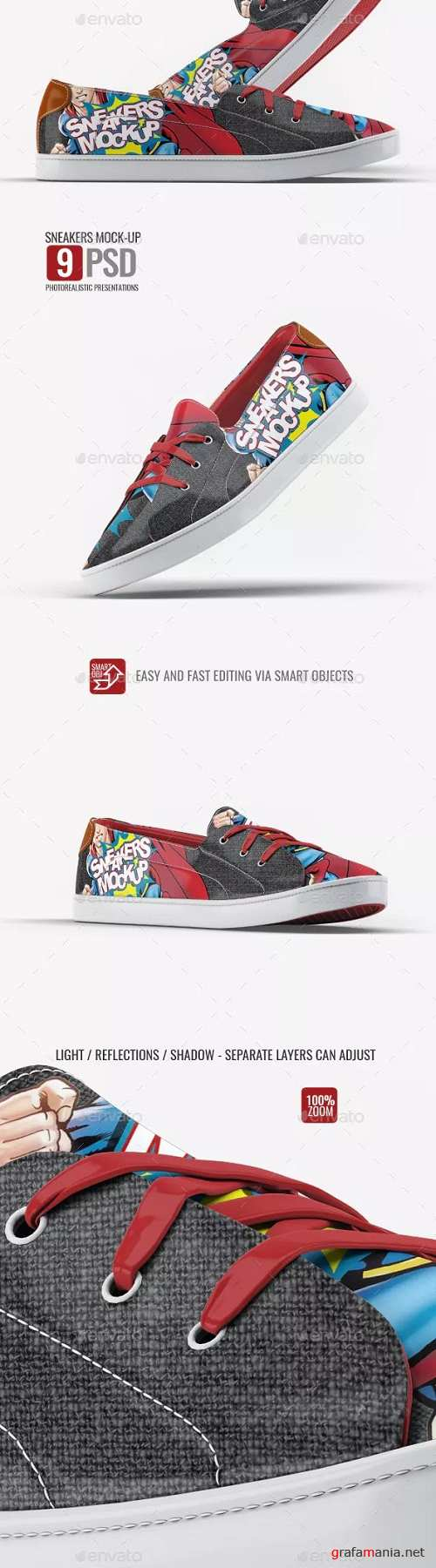 Sneakers Shoes Mock-Up v2 - 23225501