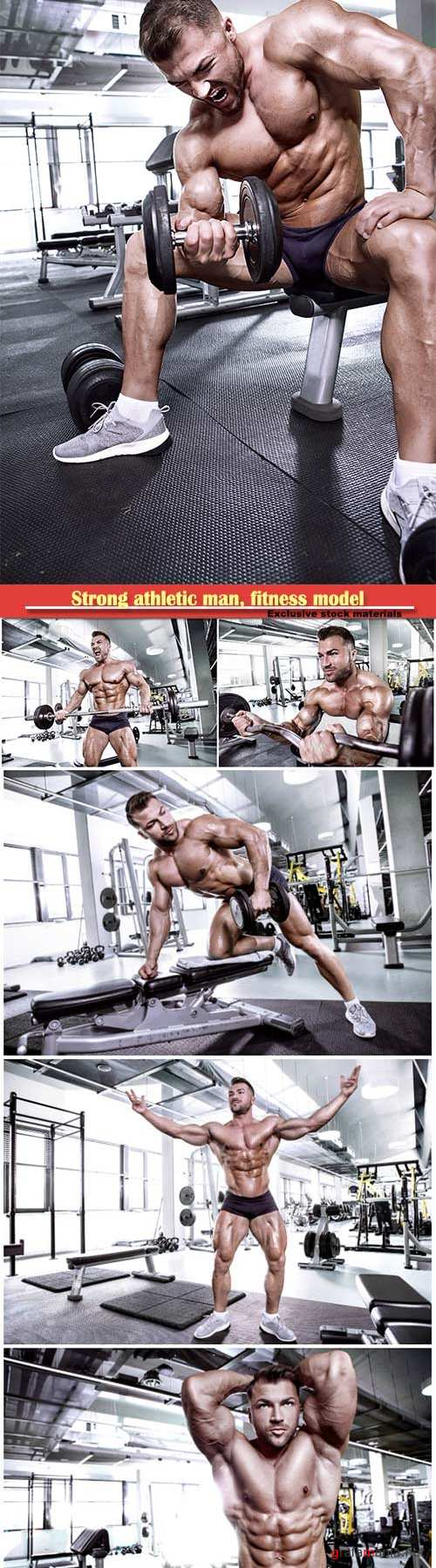 Strong athletic man, fitness model