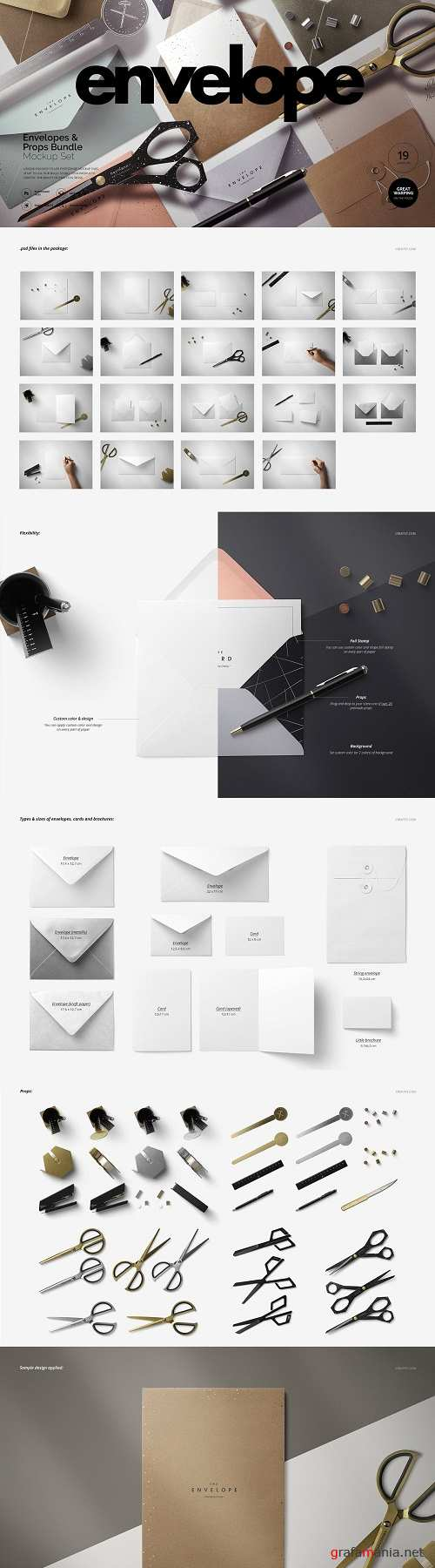 Envelopes Mockup Set (+props) - 3418302