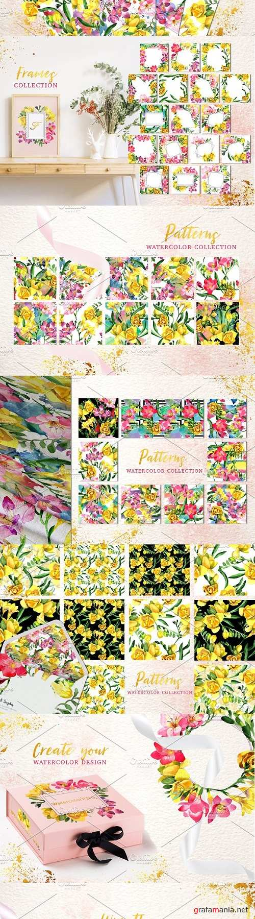 Floral Design collection watercolor - 3494854
