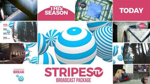 Stripes tv Broadcast Package - After Effects Project (Videohive)