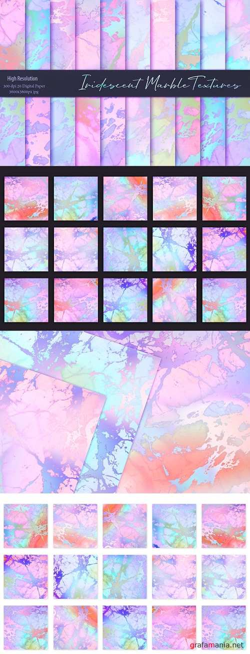 Rose Iridescent Marble Textures - 3531823