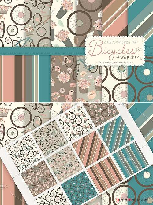 Bicycles 07 - Seamless Patterns 02 - 3324225