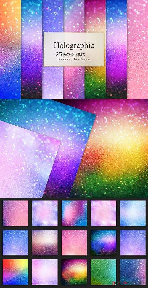 Holographic and Glitter Backgrounds - 2650662