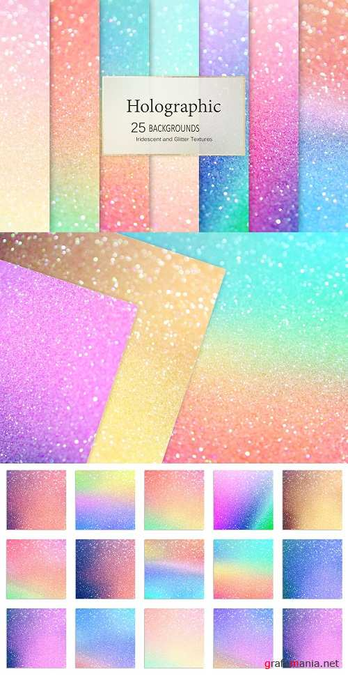 Iridescent and Glitter Textures - 2687058