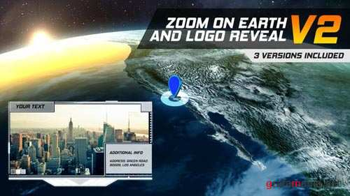 Zoom On Earth And Logo Reveal V2 - After Effects Project (Videohive)