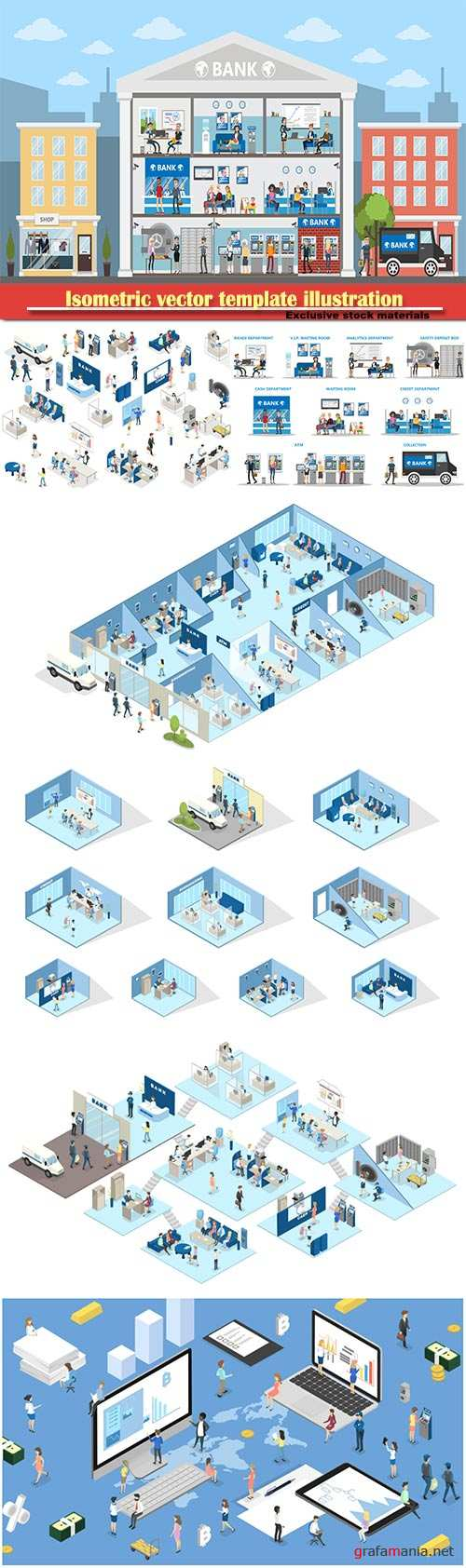 Isometric vector template business illustration # 45