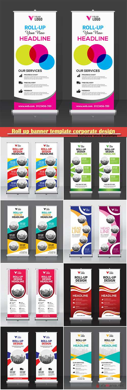 Roll up banner template corporate design