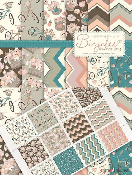 Bicycles 07 - Seamless Patterns - 3321633