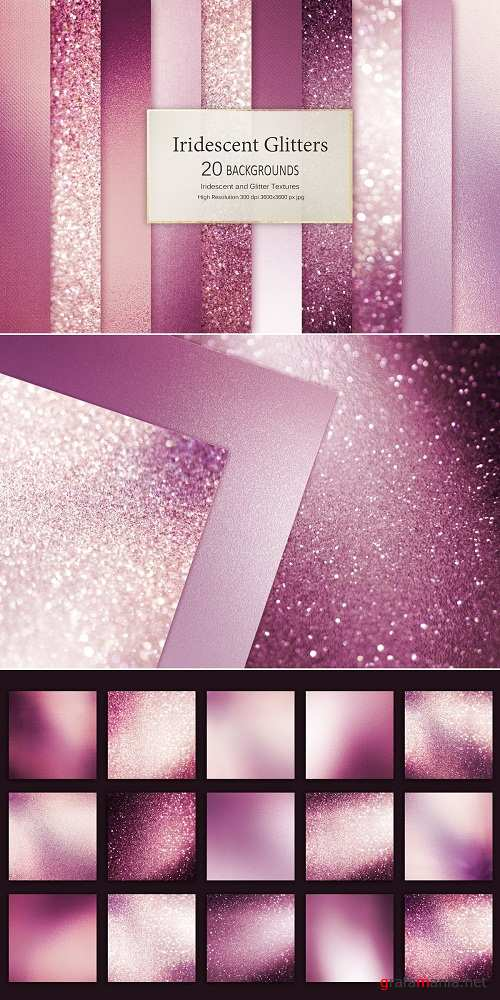 Rose Iridescent and Glitter Textures - 3488231