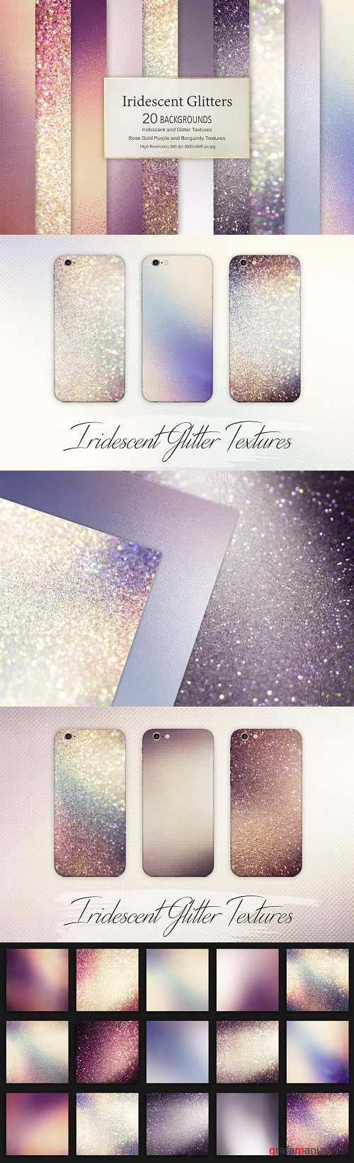 Iridescent and Glitter Textures - 2283229